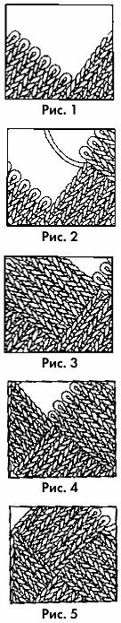 схема выполнения спицами узора плетение