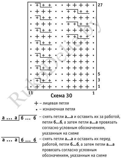 схема узора для вязания спицами безрукавки для мальчика