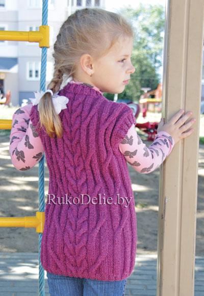 туника для девочки спицами модели одежды для девочек детская