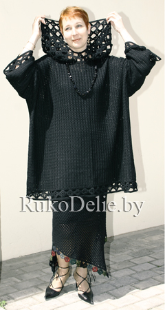 фото вязаного крючком женского костюма