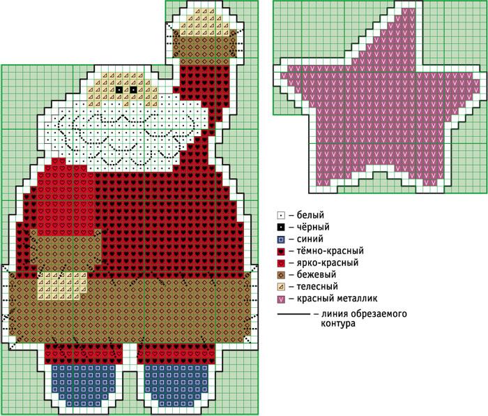 схема вышивки крестиком Деда
