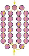 схема плетения из бисера букетика фиалок