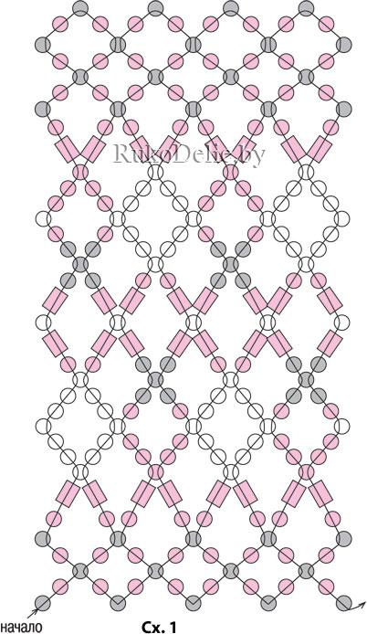 схема плетения пояска для пасхального яйца