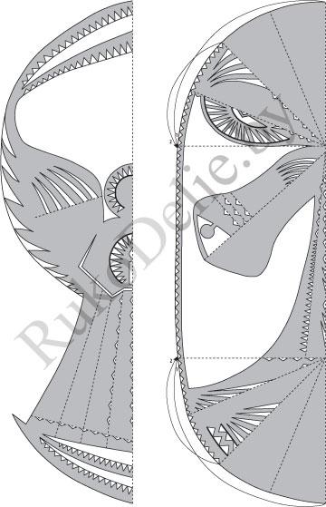 схема вырезания ангела и