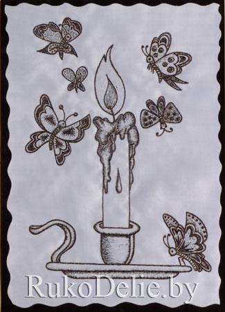 пример выжигания росписью