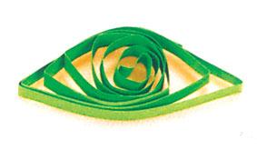 глаз из бумажной ленты