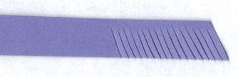 способ нарезания двойной бахромы для квиллинга