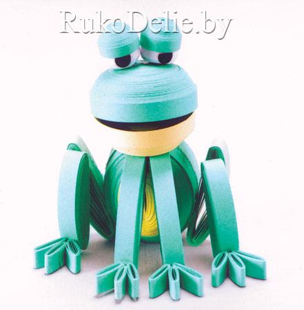 лягушка в технике трехмерного квиллинга