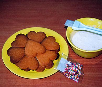 декорирование печенья глазурью и посыпкой