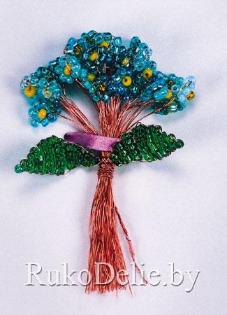 цветы из бисера колокольчики