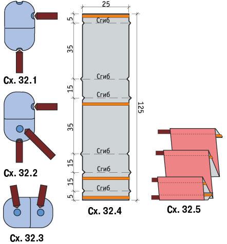 схема изготовления газетницы из штапика и пластиковых яиц