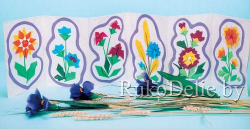 гербарий из бумажных цветов