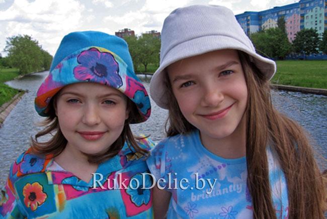 шляпка и панамка для девочки