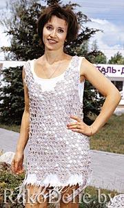 Вязание крючком летний сарафан и платье