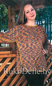 Женские Пуловеры Из Меланжевой Пряжи