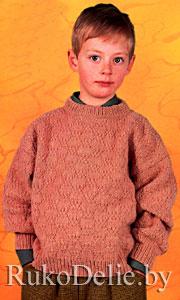 Вязание на спицах свитер для мальчика видео 100