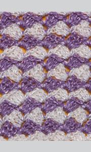 Связанный крючком плотный двухцветный узор