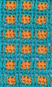 Цветные квадратные мотивы, связанные крючком