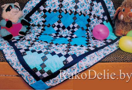 Одеяло в технике пэчворк