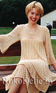 Платье вязаный спицами женский