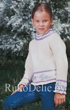 свитер спицами для девочки фото.