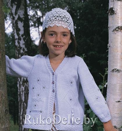 шапочка для девочки 6 7 лет связанная крючком одежда для детей