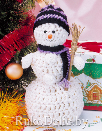 Вязаный крючком снеговик