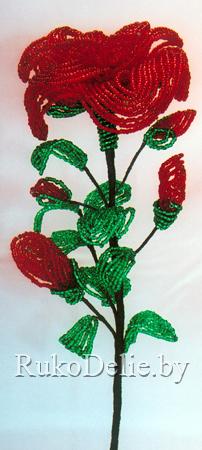 Роза из бисера :: Цветы и букеты :: Цветы ...