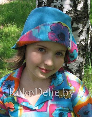 Весенняя шапочка и панамка для девочки