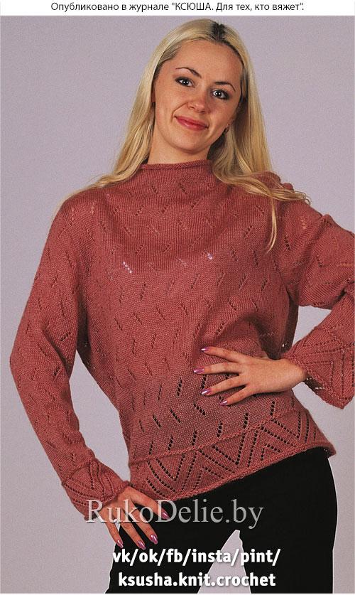 пуловер машинным вязанием