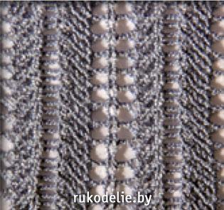 схемы вязания вертикальных ажурных узоров спицами
